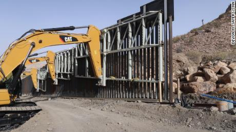 CNN observed construction crews working in an area of the US-Mexico border near the New Mexico-Texas state line with heavy machinery on Monday.