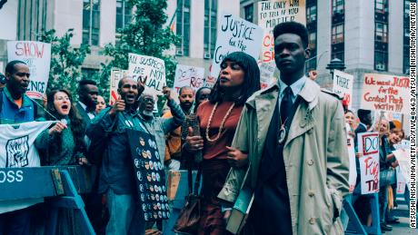 "Aunjanue Ellis and Ethan Herisse in ""When They See Us."""