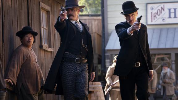 Timothy Olyphant, John Hawkes in 'Deadwood: The Movie'