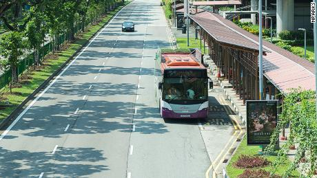 Green roofs were installed on 10 public buses in Singapore by urban greenery specialist, GWS Living Art.