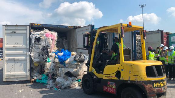 Malaysia will return illegally-imported plastic waste to the source country.