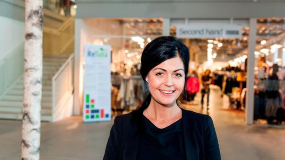 Anna Bergström manages the ReTuna shopping mall in Sweden.
