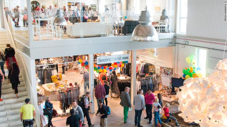 The ReTuna shopping mall in Eskilstuna, Sweden, only sells recycled goods.