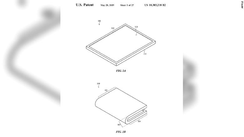 Apple has won a patent for a foldable screen that could be used on iPhones and other devices.