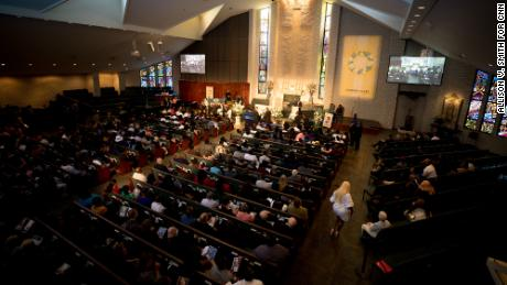 Muhlaysia Booker's funeral was held at the Cathedral of Hope in Dallas, Texas.