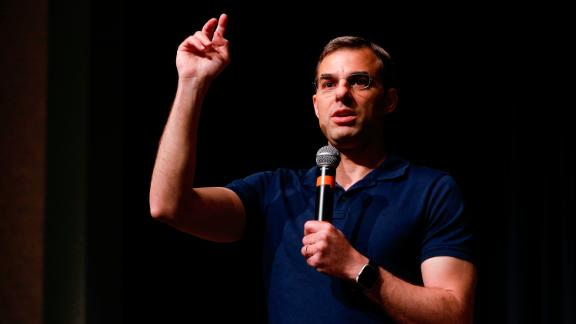 U.S. Rep. Justin Amash (R-MI) holds a Town Hall Meeting on May 28, 2019 in Grand Rapids, Michigan. (Bill Pugliano/Getty Images)