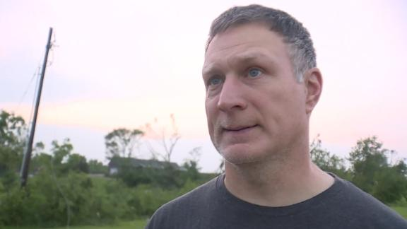 Brian Hahn, of Linwood, Kansas, said he was in his basement with his wife, daughter and dog when a tornado swirled their home away.