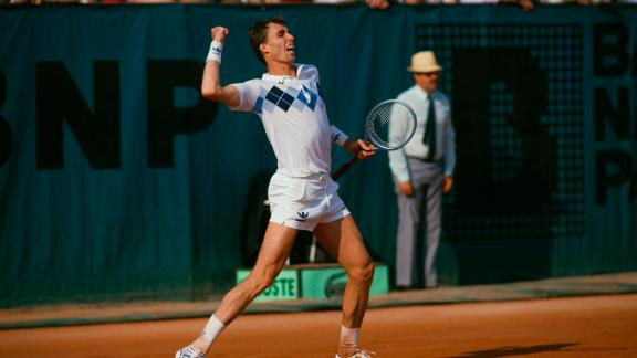 Ivan Lendl beat John McEnroe to win the first of three French Open titles in 1984.