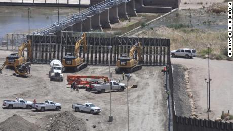 We Build the Wall founder Brian Kolfage released this photo he said shows work has paused at the site.