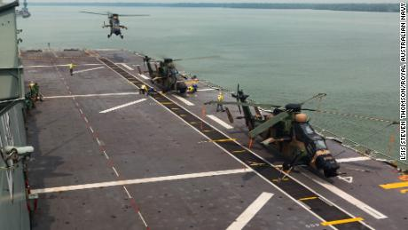 Australian helicopters targeted by lasers in South China Sea