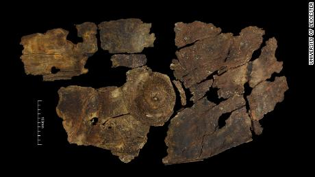This Iron Age shield is 2,300 years old and made from tree bark