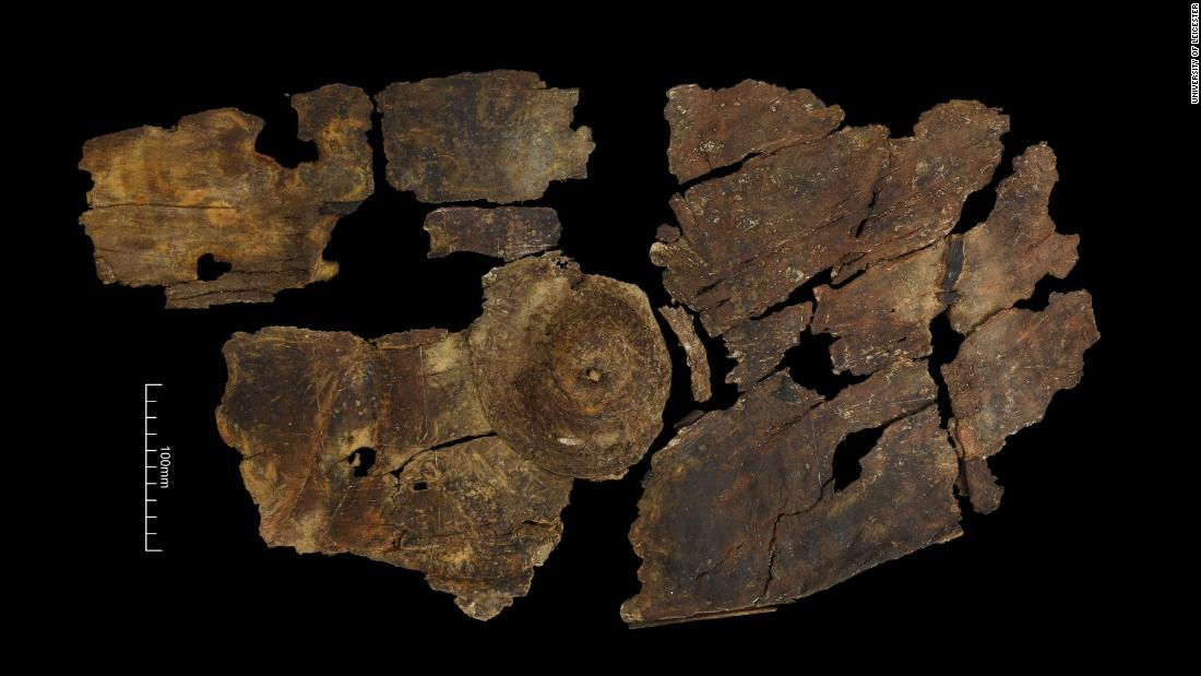 Radiocarbon dating has revealed that this Iron Age wooden shield was made between 395 and 255 BC.