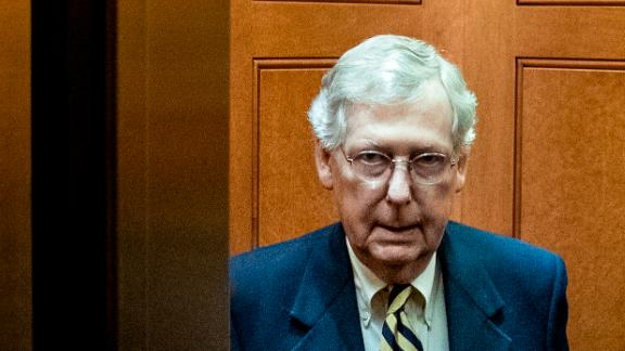 WASHINGTON, DC - MARCH 25: Senate Majority Leader Mitch McConnell (R-KY) gets into an elevator as he leaves his office at the U.S. Capitol, March 25, 2019 in Washington, DC. Over the weekend, U.S. Attorney General William Barr sent a letter to Congressional leaders informing them that special counsel Robert Mueller's investigation did not find evidence of direct collusion between Donald Trump's 2016 campaign and Russia to influence the presidential election. (Photo by Drew Angerer/Getty Images)