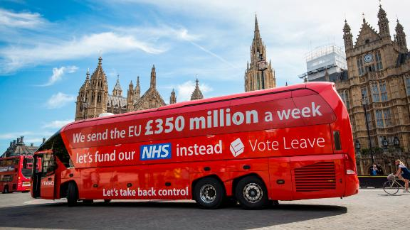 Cummings was behind the debunked claims by Vote Leave that the UK sent £350 million a week to the EU.