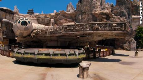 The centerpiece of Disney's new Star Wars Land is the replica Millennium Falcon.