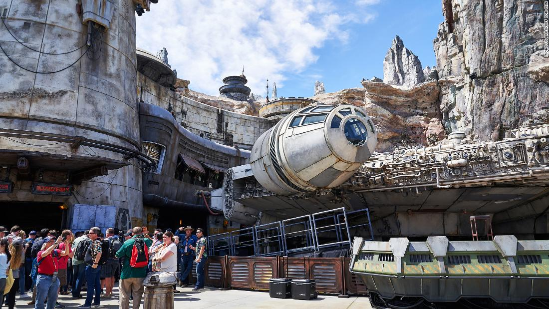 As it opens, the signature attraction and ride at Disneyland's Galaxy's Edge is the full-scale, 100-plus-foot-long, movie-perfect Millennium Falcon.