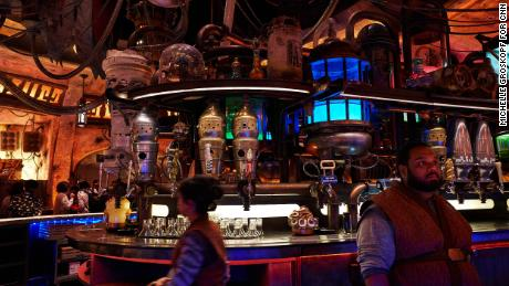A look inside Oga's Cantina, the bar inside Galaxy's Edge.