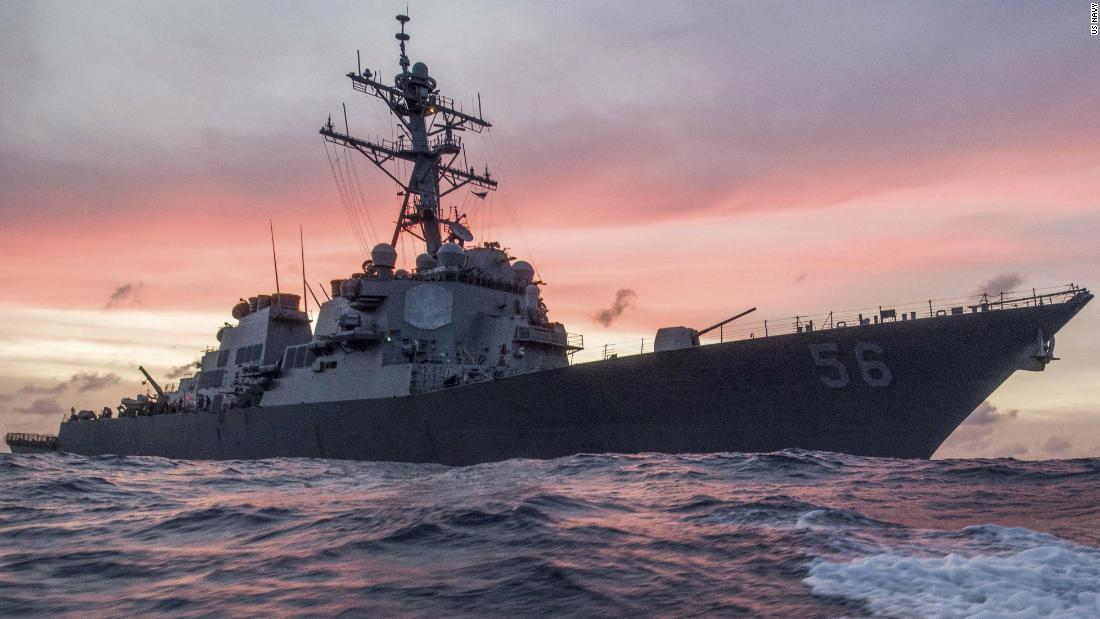 US warship warned by Russian ship after challenging claims in Sea of Japan