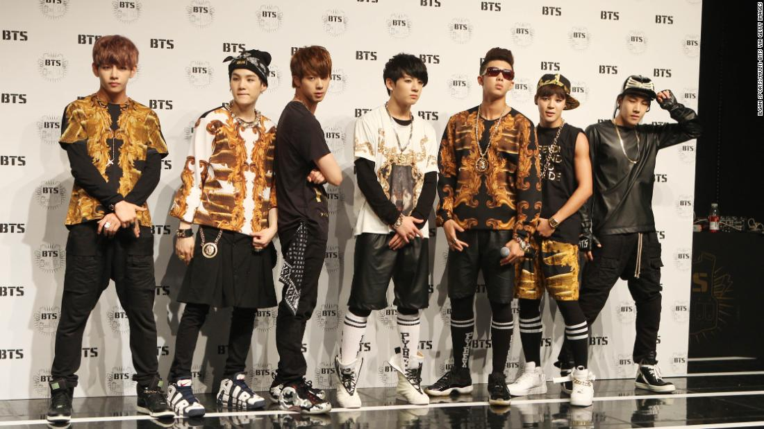 BTS during their debut showcase on June 15, 2013, in Seoul, South Korea. Their style has undergone some changes.