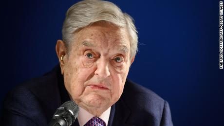 "Hungarian-born US investor and philanthropist George Soros delivers a speech on the sideline of the World Economic Forum (WEF) annual meeting, on January 24, 2019 in Davos, eastern Switzerland. - Billionaire investor George Soros said, on January 24, 2019 that Chinese President Xi Jinping was ""the most dangerous enemy"" of free societies for presiding over a high-tech surveillance regime."