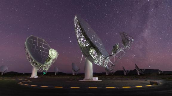 MeerKAT is made up of 64 satellite dishes.