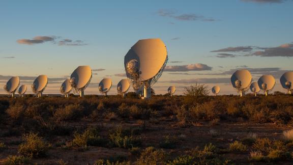 MeerKAT satellite dishes