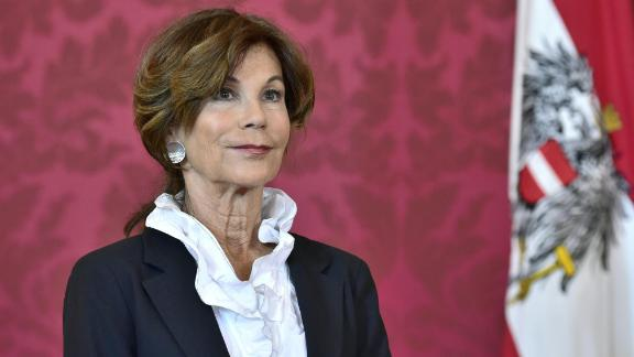 President of the Constitutional Court Brigitte Bierlein looks on following a statement after she was named as interim chancellor by Austrian President on May 30, 2019, at the Chancellery in Vienna. (Photo by HANS PUNZ / APA / AFP) / Austria OUT        (Photo credit should read HANS PUNZ/AFP/Getty Images)