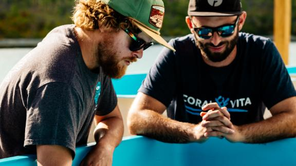 Gator Halpern and Sam Teicher founded start-up Coral Vita with the aim of reviving reefs worldwide.