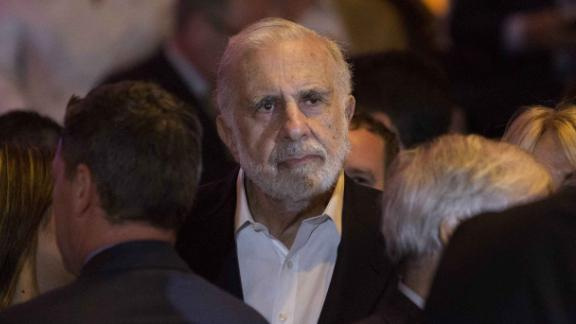 Carl Icahn, billionaire activist investor, waits for Donald Trump, president and chief executive of Trump Organization Inc. and 2016 Republican presidential candidate, not pictured, to speak at an election night event in New York, U.S., on Tuesday, April 19, 2016. Trump, the billionaire real-estate mogul, got a major boost in his quest to secure the Republican nomination with a majority of delegates but could not eliminate the possibility of a contested convention. Photographer: Victor J. Blue/Bloomberg via Getty Images