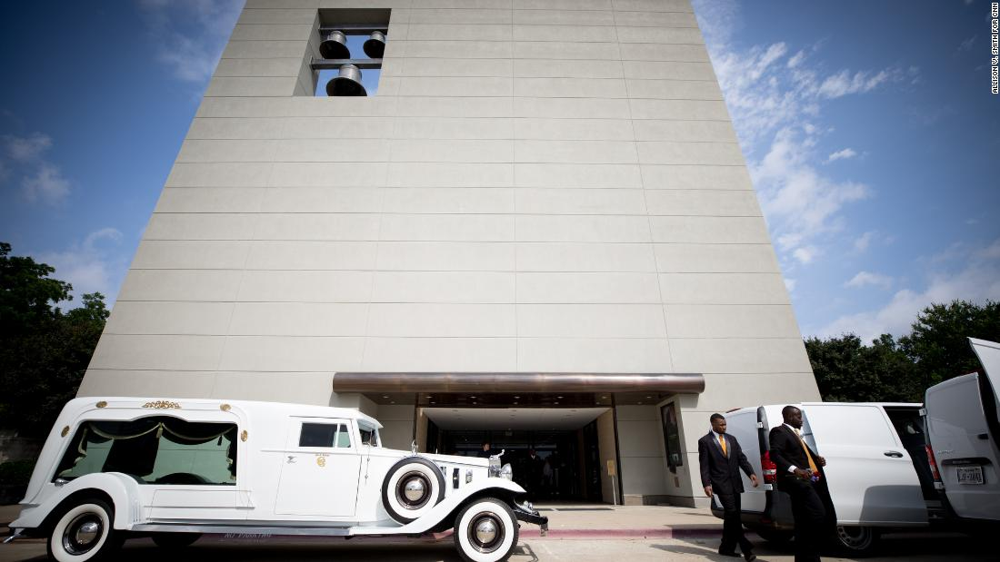 Booker's funeral was held at the Cathedral of Hope in Dallas, one of the country's largest LGBTQ congregations, located near North Dallas' predominantly white gayborhood, Oak Lawn.
