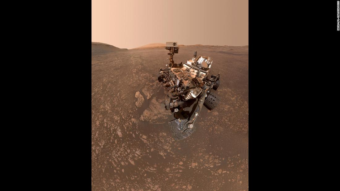"NASA this week <a href=""https://www.jpl.nasa.gov/spaceimages/details.php?id=PIA23240"" target=""_blank"">released an image</a> of the Curiosity rover taking a selfie on Mars. The selfie is composed of 57 individual images that were stitched together. The rover's robotic arm was digitally removed."