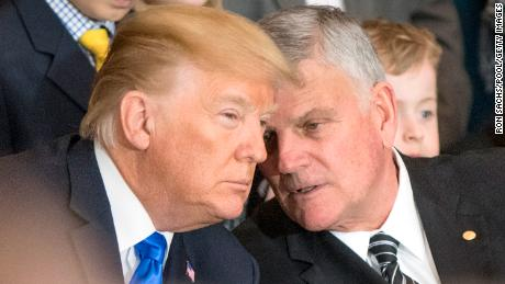 Franklin Graham wants the nation to pray for Trump on Sunday. But other Christians call it propaganda