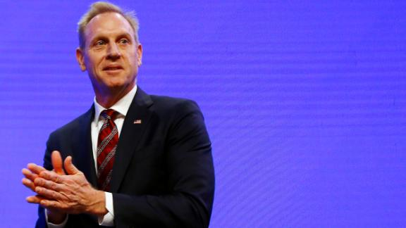 Acting US Defense Secretary Patrick Shanahan at the Shangri-la Dialogue in Singapore, June 1, 2019.