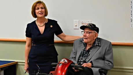 U.S. Rep. Kathy Castor of Florida and Raymond Chambers