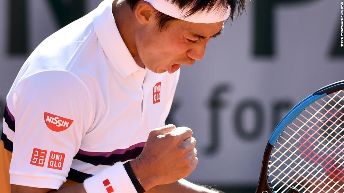 In another dramatic contest, Kei Nishikori beat Laslo Djere in five sets. His record in five sets improved to 22-6.