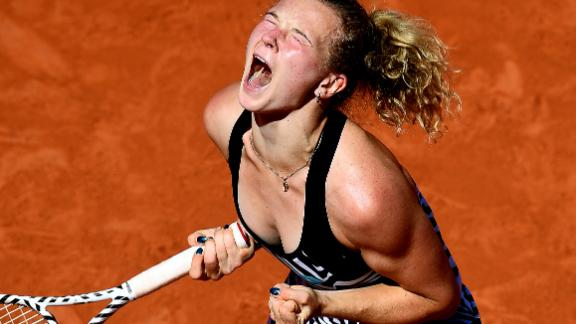 Siniakova, 23, is a doubles world No. 1 and former junior star. She picked up her first win over a No. 1 player in singles.