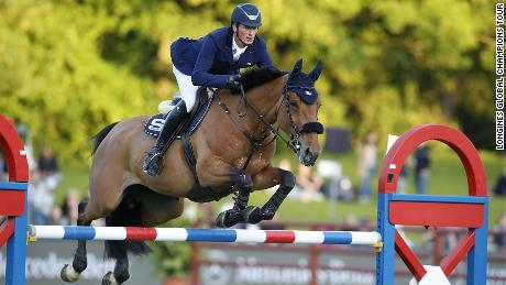 German Daniel Deusser clinched victory at the Longines Global Champions Tour stop in Hamburg on Saturday.