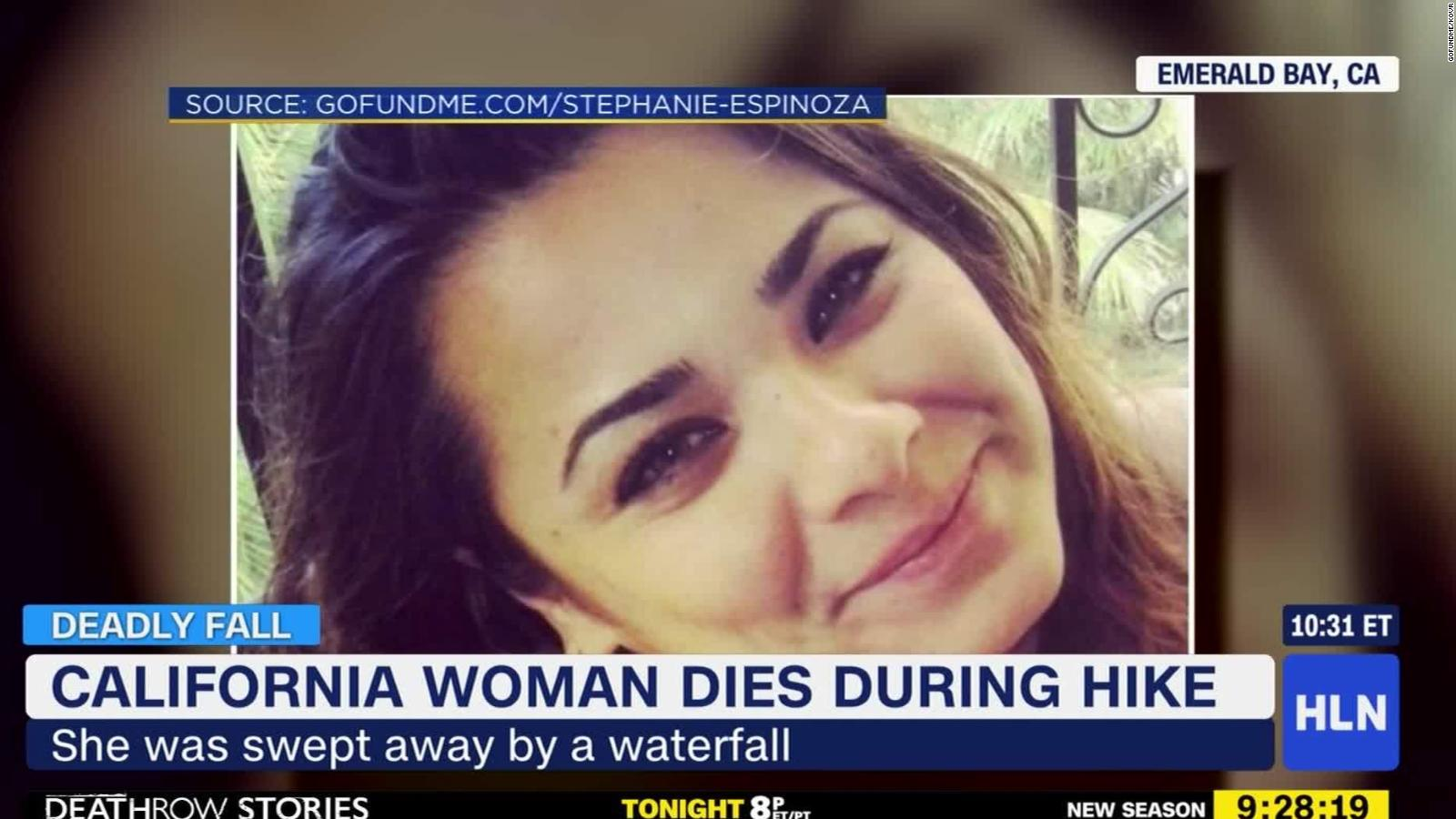 Woman dies after being swept away by waterfall - CNN Video