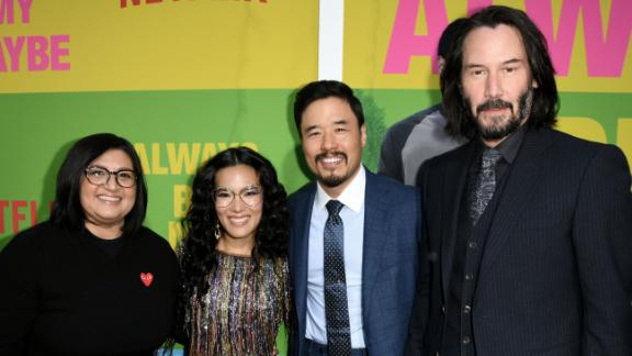 """Nahnatchka Khan, Ali Wong, Randall Park and Keanu Reeves attend the premiere of Netflix's """"Always Be My Maybe"""" in Westwood, California in May."""