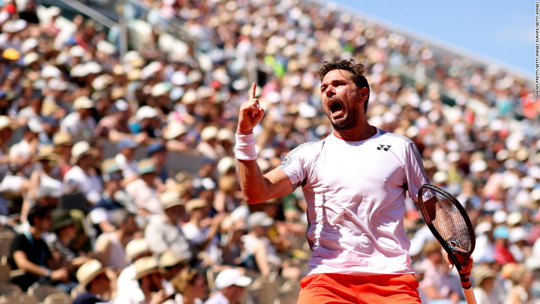 Stan Wawrinka was in jubilant mood at the French Open Sunday. He outlasted Stefanos Tsitsipas in a five-hour classic.