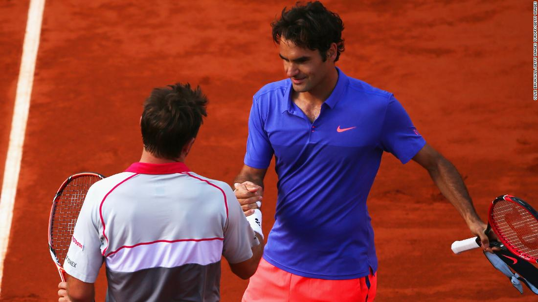 When Federer and Wawrinka met in the 2015 quarterfinals, Wawrinka won and then went on to win the title over Novak Djokovic.
