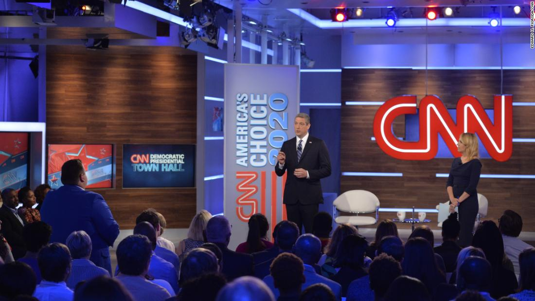 Ryan addresses audience members in Atlanta during a CNN town hall in June 2019.