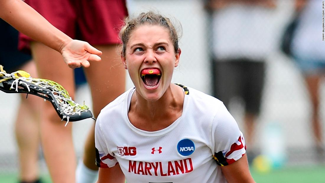 "Jen Giles of Maryland celebrates after scoring a goal against Boston College in the second half of the NCAA Division 1 Lacrosse National Championship Game at Homewood Field in Baltimore, Maryland, on Sunday, May 26. <a href=""https://www.cnn.com/2019/05/26/sport/gallery/what-a-shot-sports-0526/index.html"" target=""_blank"">See 23 amazing sports photos from last week</a>"