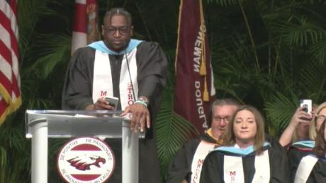 Dwyane Wade makes surprise commencement speech