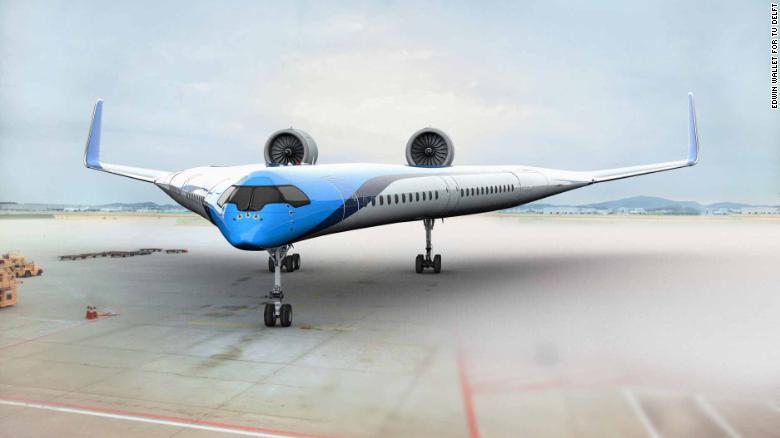KLM to fund development of fuel-efficient Flying-V plane