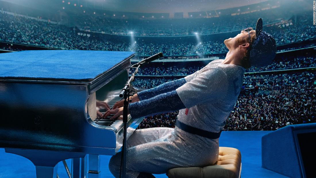 "<strong>Best actor in a motion picture — musical or comedy:</strong> Taron Egerton, ""Rocketman"""