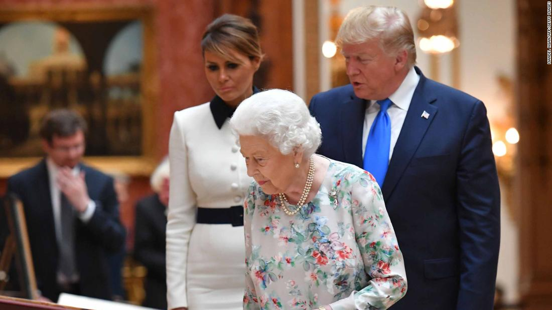 Trump's UK visit gets off to a booming start with guns, guards and insults