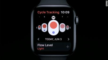 Users will be able to log symptoms via the watch.