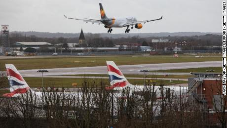 A passenger jet pilot swerved to avoid drone near Gatwick Airport