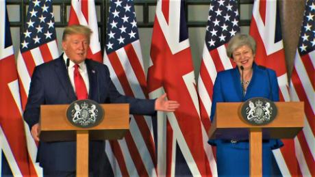 Trump: May's probably a better negotiator than me